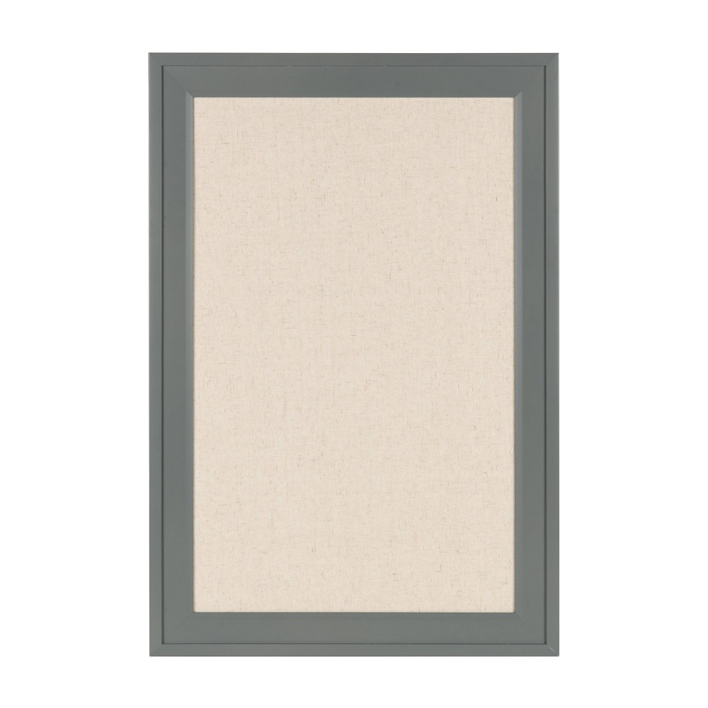 "Image of ""15"""" x 24"""" Bosc Fabric Pinboard Gray - DesignOvation"""