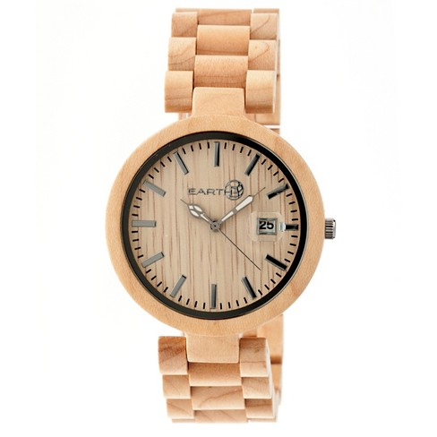 Women's Earth Stomates Watch with Luminous hands and Magnified Date Display-Khaki/Tan - image 1 of 3