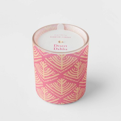 5oz Global Paper Wrapped Glass Desert Dahlia Candle - Opalhouse™