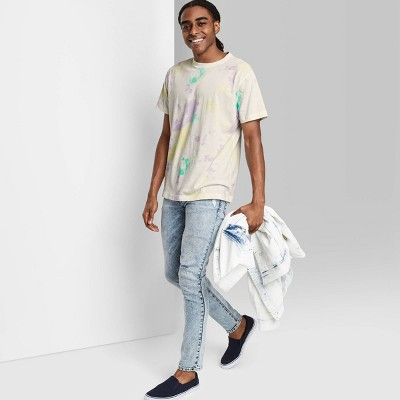 Men's Tie-Dye Rolled Collar Knit T-Shirt - Original Use™ True White