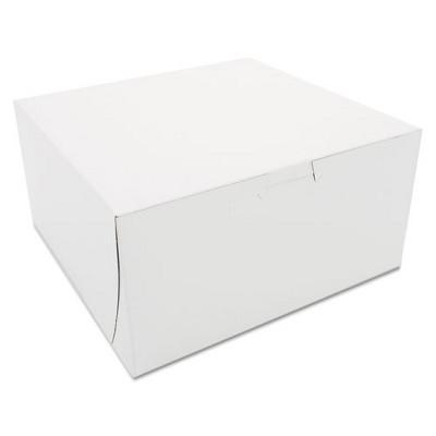 SCT Non-Window Bakery Boxes 8 x 8 x 4 White 250/Carton 0941