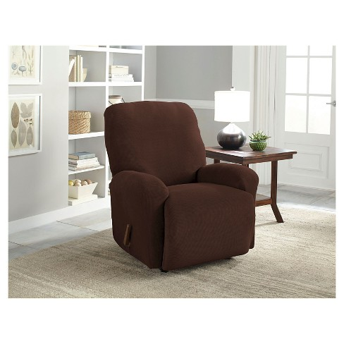 Stretch Grid Recliner Slipcover - Serta - image 1 of 2