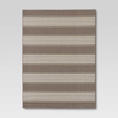 Bold Stripe Taupe Outdoor Rug - 8'x10' - Threshold™