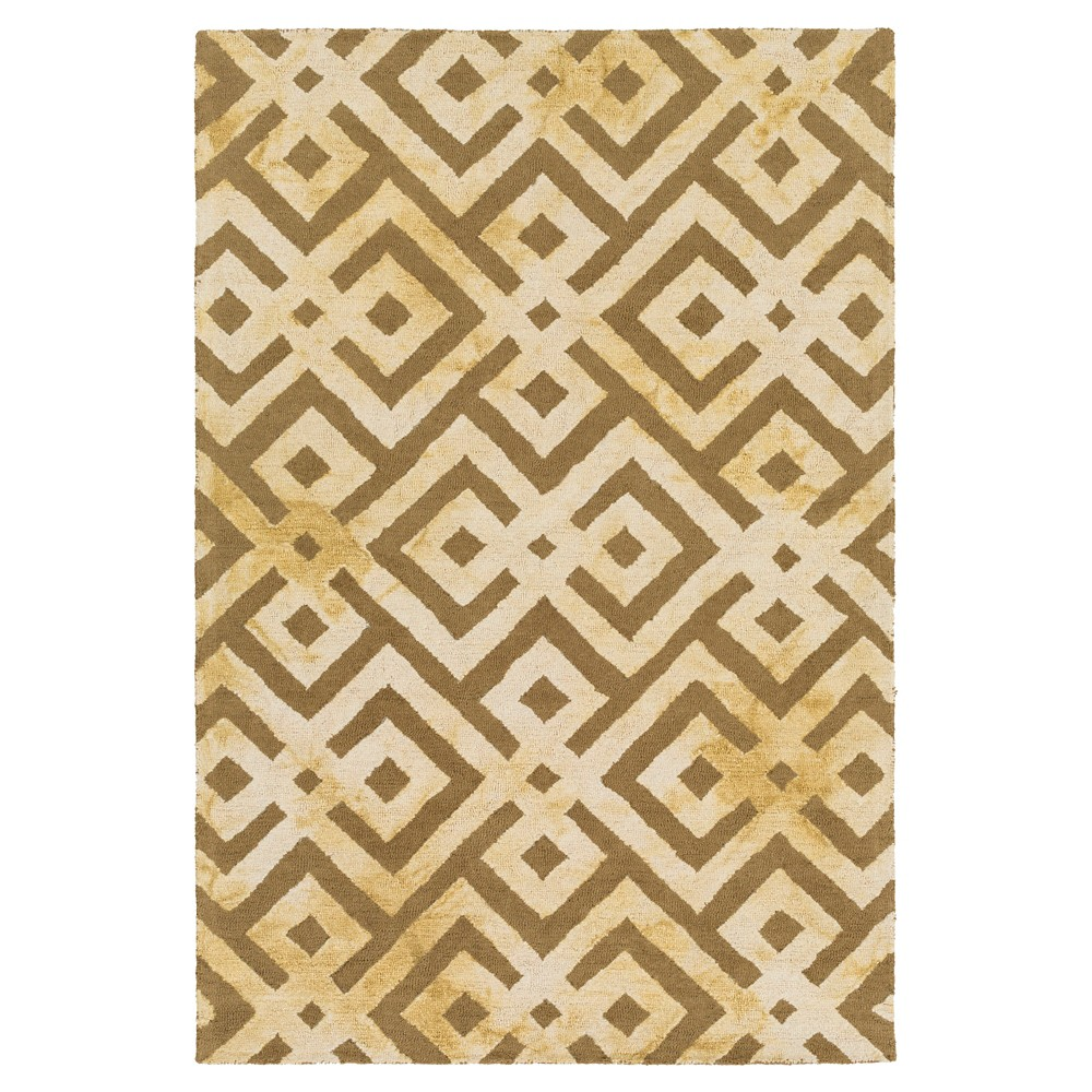 Camel Abstract Hooked Accent Rug - (2'X3') - Surya