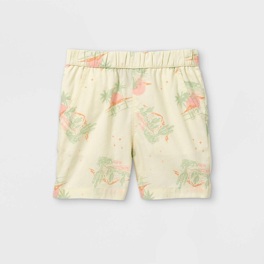 Toddler Boys 39 Desert Scene Woven Pull On Shorts Art Class 8482 Cream 12m