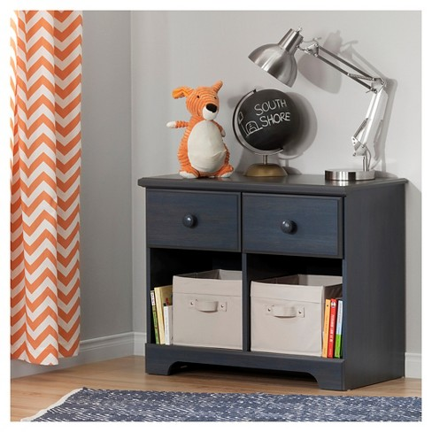 Summer Breeze 2-Drawer Double Nightstand - Blueberry - South Shore - image 1 of 5