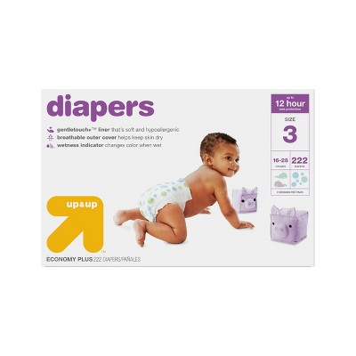 Diapers Bulk Plus Pack Size 3 - 222ct - Up&Up™