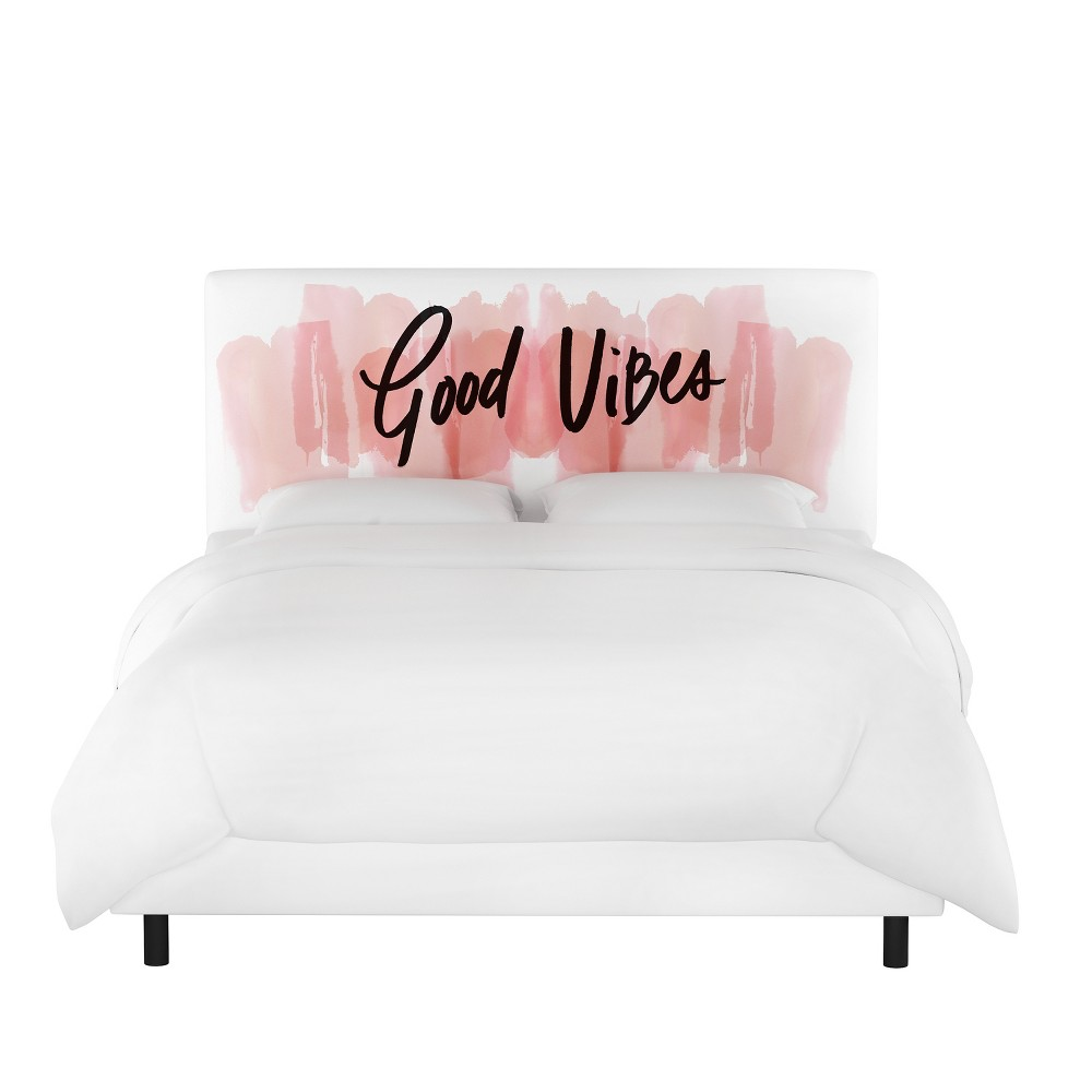 Full Olivia Upholstered Bed Good Vibes Blush - Cloth & Co.