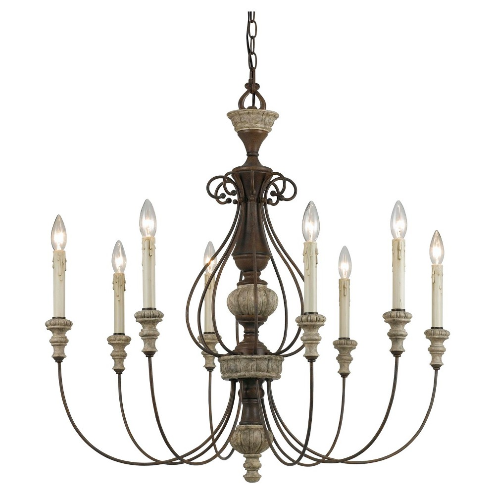 Cal Lighting Williams Metal chandelier, Red