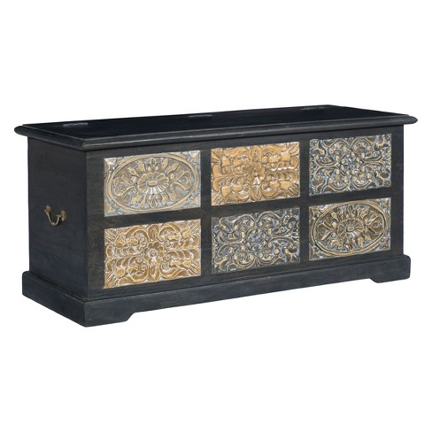 Christopher Knight Home Colony Storage Trunk Dark Gray - image 1 of 4