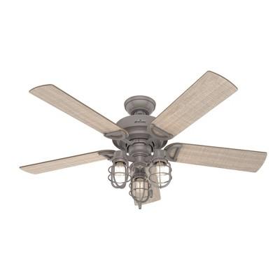 "52"" Starklake Damp Rated Ceiling Fan (Includes LED Light Bulb) - Hunter Fan"