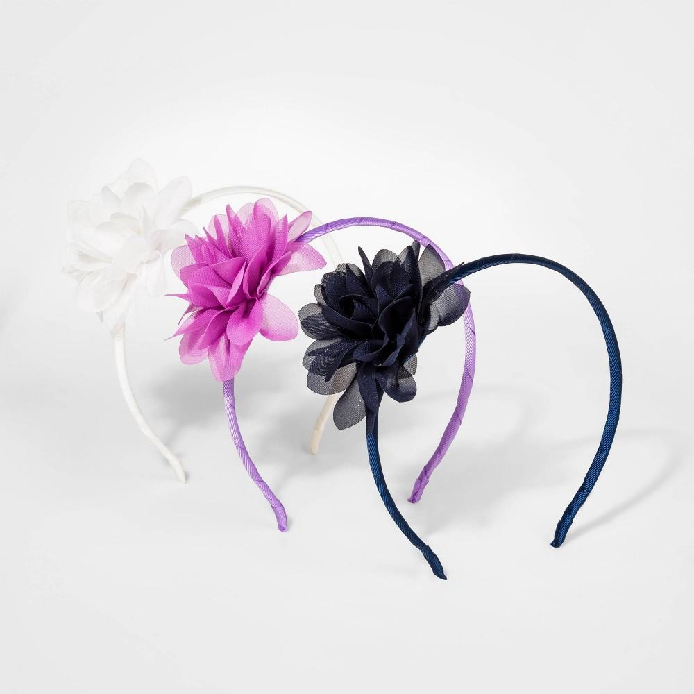 Girls 3pk Headband with Flower Cat Jack 8482
