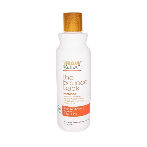 Raw Sugar The Bounce Back Mango Butter + Agave + Carrot Oil Shampoo - 18 fl oz - image 1 of 4