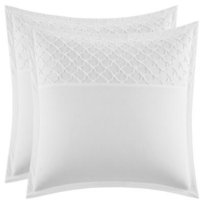 White Mosaic Pillow Sham (Euro) - Stone Cottage