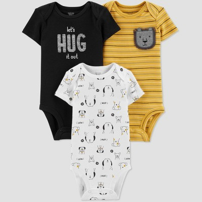 Baby Boys' 3pk Short Sleeve Bodysuits - Just One You® made by carter's Yellow 6M