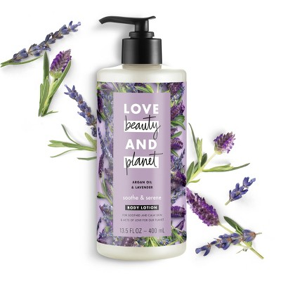 Love Beauty & Planet Argan Oil And Lavender Hand And Body Lotion - 13.5oz