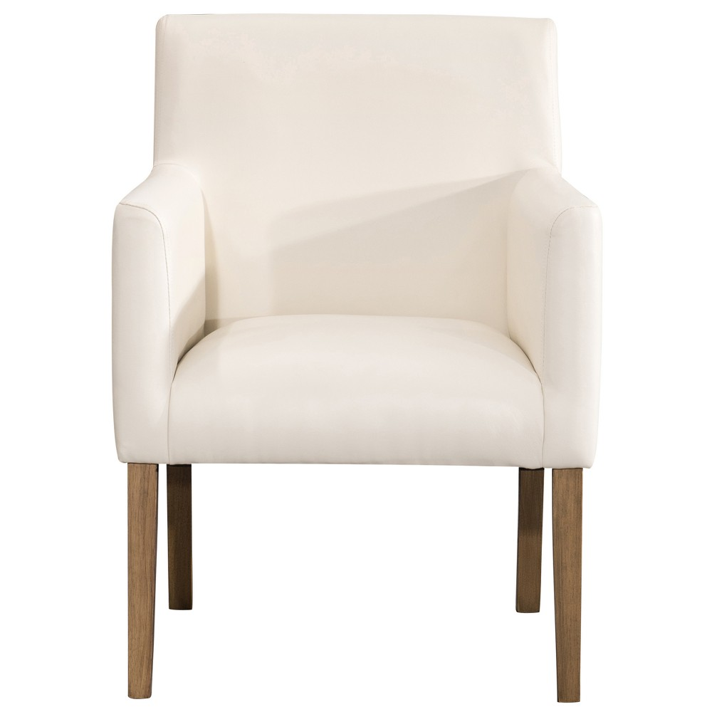 Lexington Dining Chair Cream Faux Leather - Homepop was $169.99 now $127.49 (25.0% off)