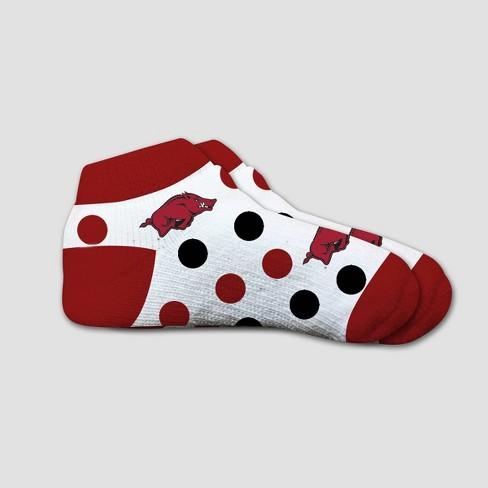 NCAA Arkansas Razorbacks Polka Dot Infant Socks 2T-4T - image 1 of 1