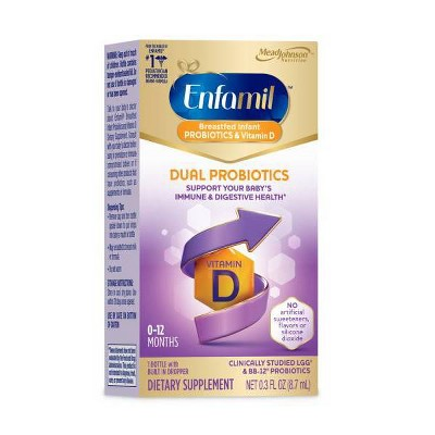 Enfamil Dual Probiotic Infant Daily Drops - 0.3 fl oz