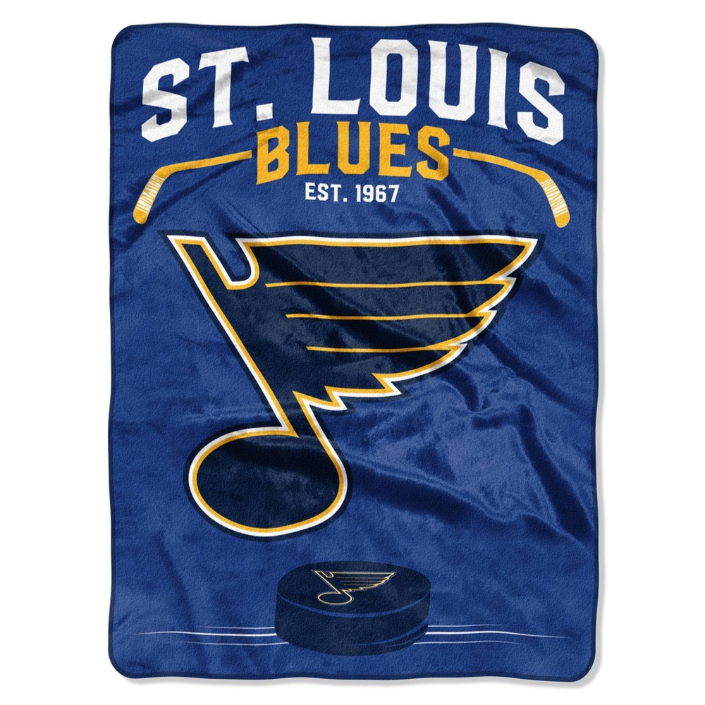 Nhl St Louis Blues Inspired Raschel Throw Blanket