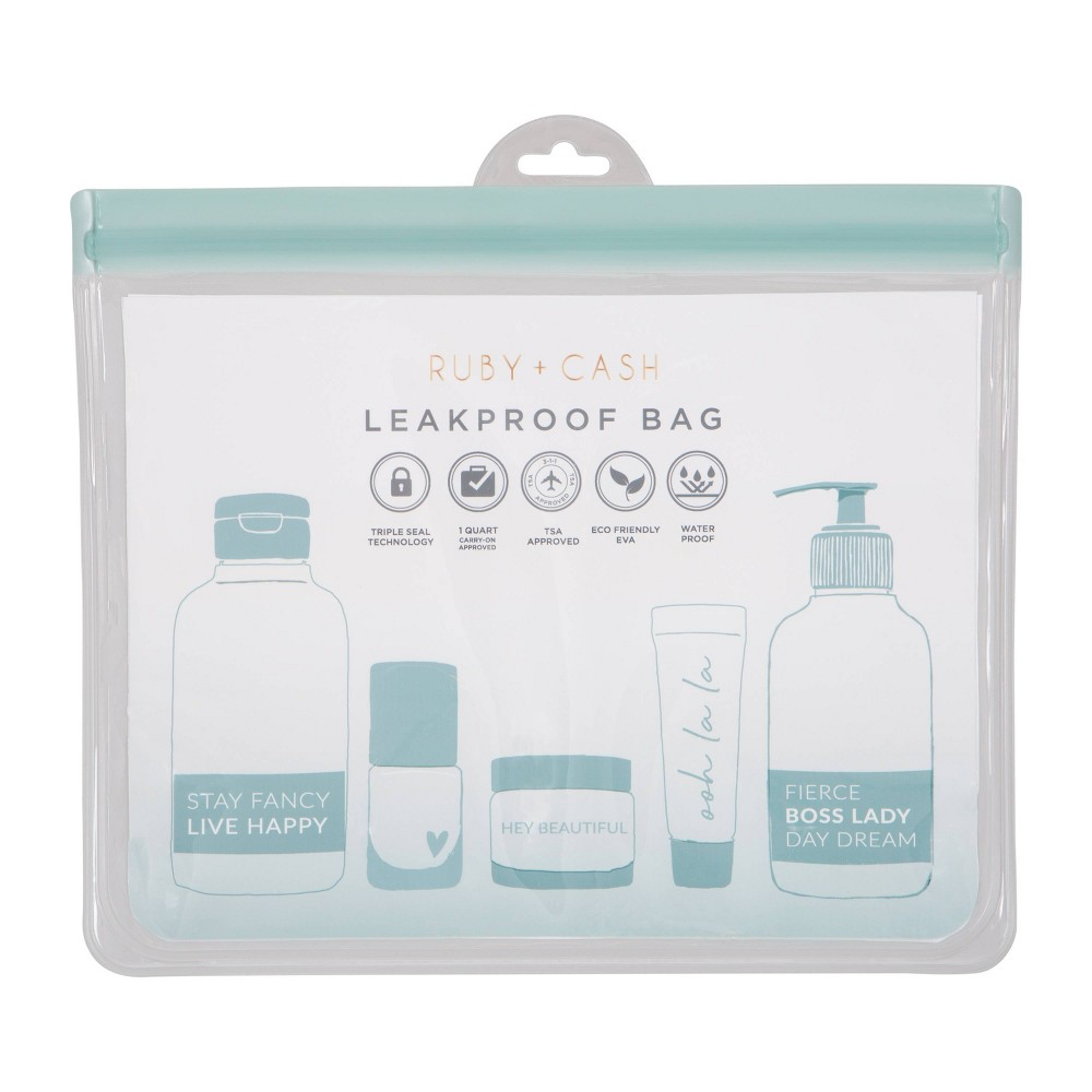 Image of Ruby+Cash Clear Blue Leakproof Pouch