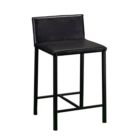 Sabin Faux Leather Counter Stool Black - Aiden Lane - image 1 of 4