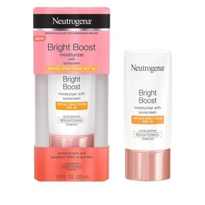 Facial Moisturizer: Neutrogena Bright Boost Moisturizer