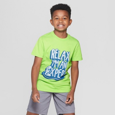 1a88d1c646dc Boys  Expert Gamer Short Sleeve Graphic T-Shirt - Cat   Jack™ Green