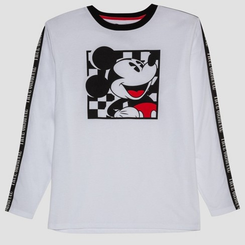 Men's Mickey Mouse Long Sleeve Graphic T-Shirt - White - image 1 of 3