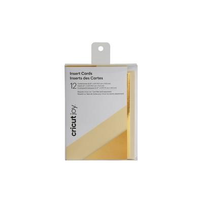 Cricut Joy 12ct Insert Cards Cream/Gold Metallic