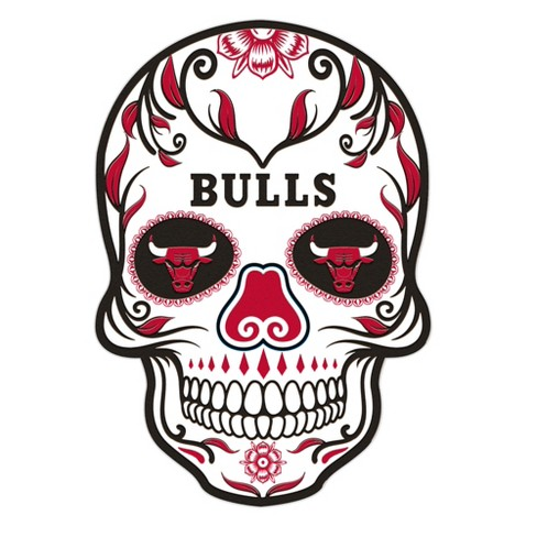 0cb8ee2d63a45 NBA Chicago Bulls Large Outdoor Skull Decal   Target