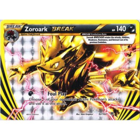 Pokemon X and Y BREAKthrough Rare Holo BREAK Zoroark BREAK #92 - image 1 of 1