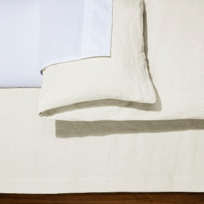 Cream Linen Bed Skirt (Queen)- Fieldcrest®