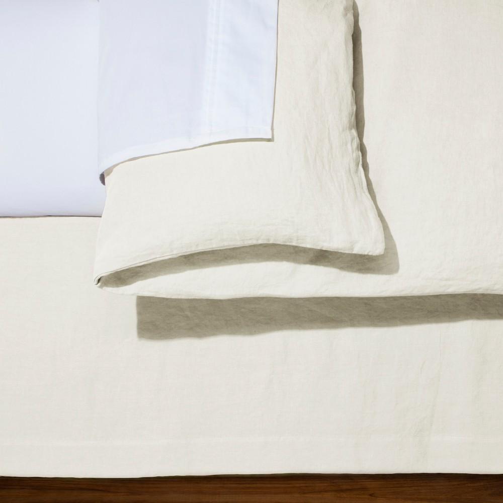 Cream (Ivory) Linen Bed Skirt (Queen) - Fieldcrest