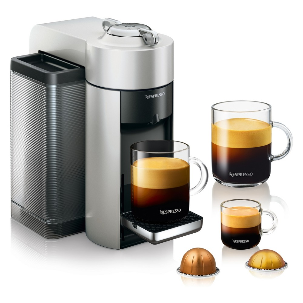 Nespresso Vertuo Coffee and Espresso Machine Silver by De'Longhi 53804254