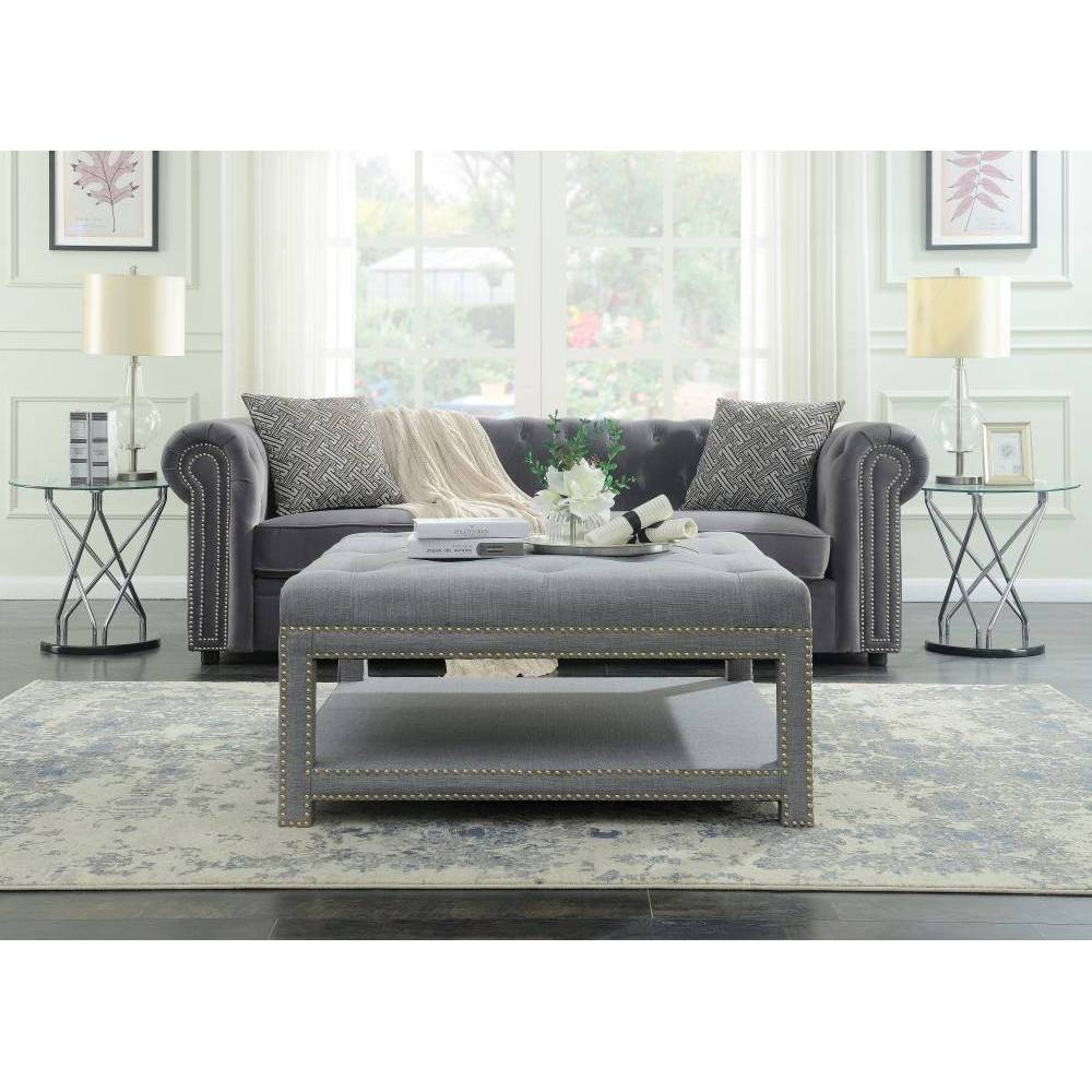 Micah Ottoman Coffee Table Gray - Chic Home Design was $589.99 now $353.99 (40.0% off)