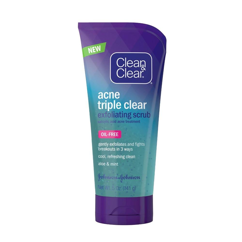 Image of Clean & Clear Acne Triple Clear Exfoliating Facial Scrub - 5oz