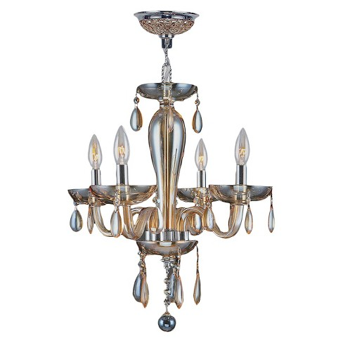 "World Wide Lighting Ceiling Light - Gold/Silver (16 X 22 X 10"") - image 1 of 1"
