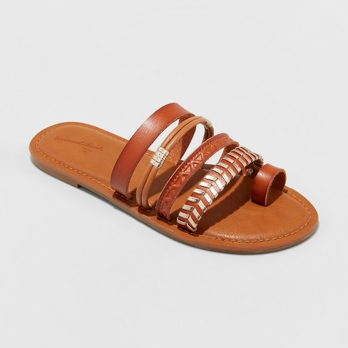Women's Wilma Slide Sandals - Universal Thread™ Cognac - image 1 of 3