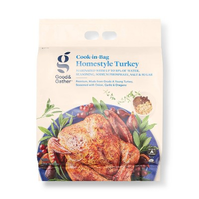 Cook-in-Bag Homestyle Turkey - Frozen - 12lbs - Good & Gather™
