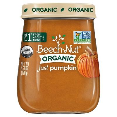 Beech-Nut Organic Just Pumpkin - 4.25oz
