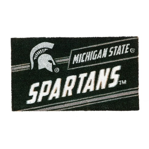 "NCAA Michigan State Spartans Rubber Door Mat 14""x 30.5"" - image 1 of 1"