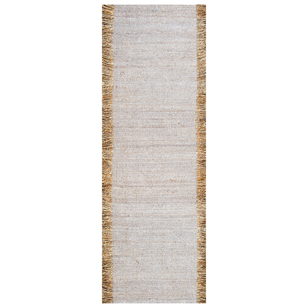Image of 2'6X8' Solid Runner Gray - nuLOOM