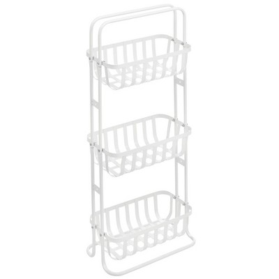 mDesign 3 Tier Vertical Standing Bathroom Shelving Unit