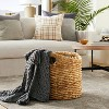 """16.5"""" x 16"""" Chunky Round Woven Basket Natural - Threshold™ designed with Studio McGee - image 2 of 4"""