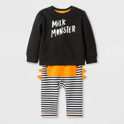 "Baby Boys' ""Milk Monster"" Top and Bottom Set - Cat & Jack™ Black"