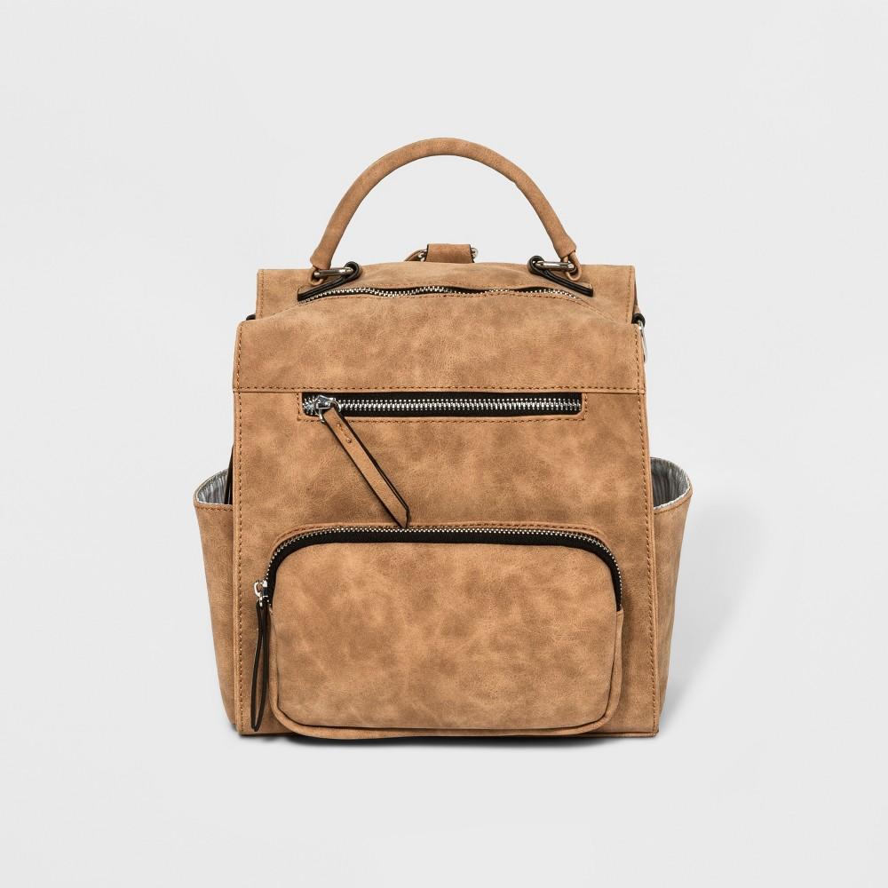 VR Nyc Convertible Backpack To Messenger Bag - Tan
