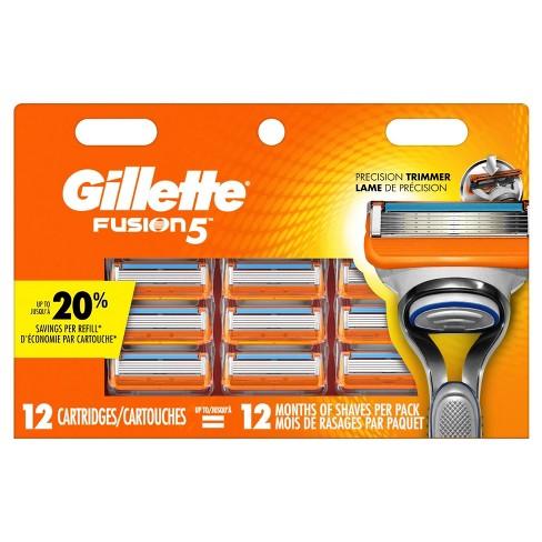 Gillette Fusion Manual Mens Razor Blade Refills Gillette