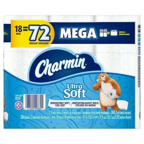 Charmin Ultra Soft Toilet Paper - Mega Rolls - image 1 of 5