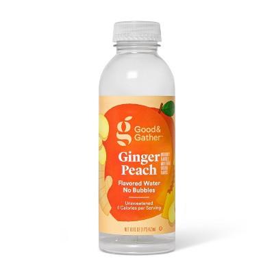 Ginger Peach Flavored Water - 16 fl oz Bottle - Good & Gather™
